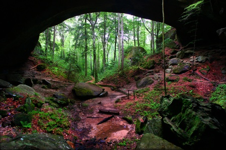 Natural Bridge hidden in the forests of northern Alabama - USA photo