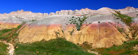 Beautiful mountains in the Badlands National Park in South Dakota photo