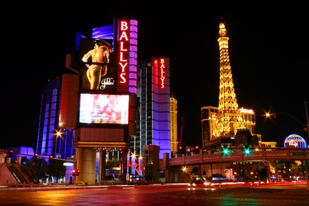 hollywood boulevard: Las Vegas, USA - November 30, 2011: Bally Editorial