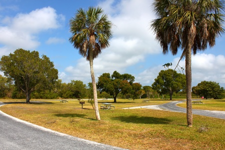 Beautiful sunny day at a campground in the Everglades National Park - Florida photo