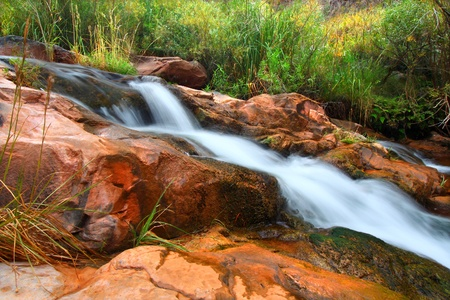 hydrology: Cascades of a small stream flowing through Grand Canyon National Park on its way to the Colorado River