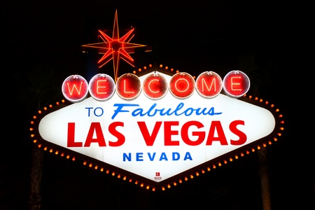 The famous Welcome to Fabulous Las Vegas Sign at the South End of the Strip