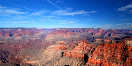 vast: Vast Grand Canyon National Park landscape from Mather Point in Arizona, USA