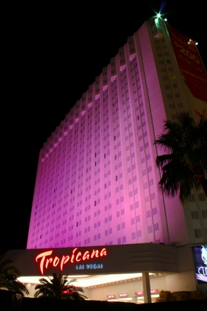 Las Vegas, USA - October 29, 2011: The Tropicana Las Vegas Hotel and Casino is located on the famous Las Vegas Strip in Nevada.  It is one of the oldest hotels on the Strip, being opened in 1957.