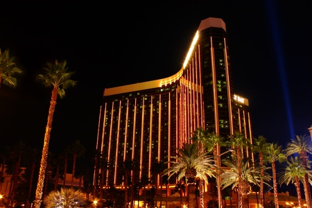 Las Vegas, USA - October 29, 2011: Mandalay Bay Resort and Casino is located in Las Vegas, Nevada and opened in 1999.  Seen here is the 44-story tall main building with three wings.