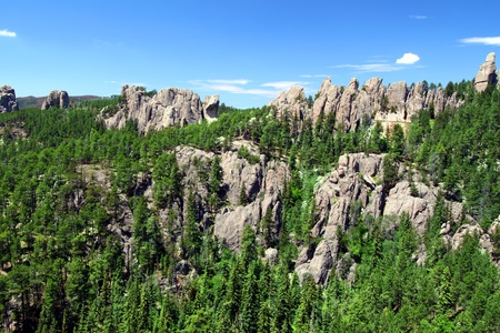The Needles rock formations of Custer State Park in western South Dakota.