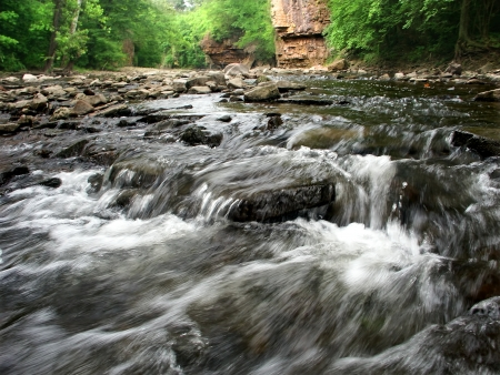 Rock Creek Cascades in a limestone gorge of Kankakee River State Park photo