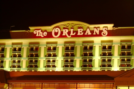 Las Vegas, USA - November 30, 2011: The Orleans Hotel and Casino has a Mardi Gras theme and was opened in Las Vegas in 1996.