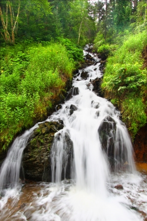 Beautiful cascading waterfall in the Black Hills of South Dakota Stock Photo - 14178854