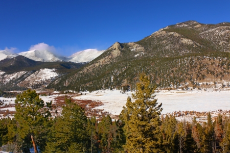 Winter Scenery of Rocky Mountain National Park in Colorado Stock Photo - 14240164