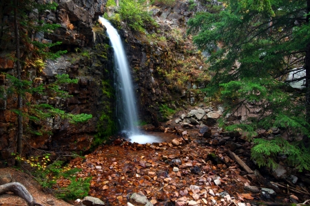 Lower Memorial Falls in the Lewis and Clark National Forest of Montana photo
