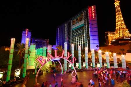 Las Vegas, USA - May 22, 2012: Ballys Hotel in Las Vegas.