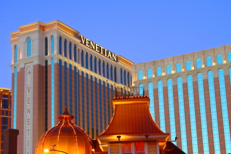 Las Vegas, USA - May 22, 2012: The Venetian Resort Hotel Casino is located in Las Vegas, Nevada.  It was opened in 1999 and has over 4,000 hotel rooms available for guests.