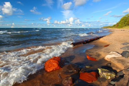 Lake Superior Beach in Michigan Stock Photo - 15150408