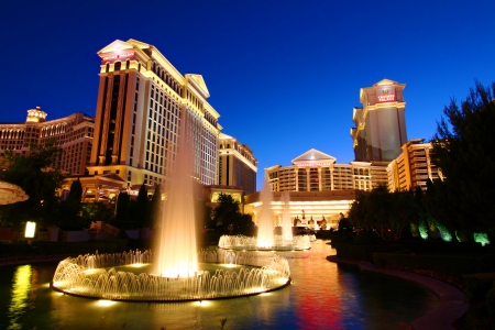 bellagio las vegas: Las Vegas, USA - May 22, 2012: Caesars Palace is a large hotel and casino that opened in the 1960s in Las Vegas.  The buildings and decorations have a Roman Empire theme.