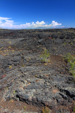Craters of the Moon National Monument of Idaho is an amazing landscape of volcanic rock photo