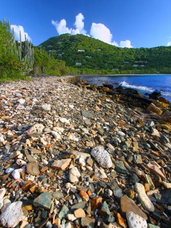 Smugglers Cove is a beautiful small bay on the Caribbean island of Tortola Stock Photo - 15928196