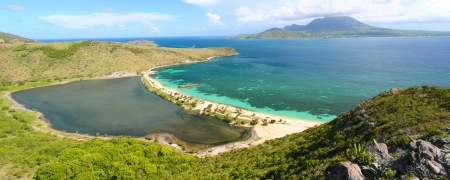 Caribbean island of Saint Kitts is truly a tropical paradise Stock Photo
