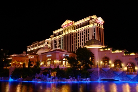 bellagio las vegas: Las Vegas, USA - May 22, 2012: Caesars Palace hotel and casino opened in the 1960s and has a Roman Empire theme. Editorial