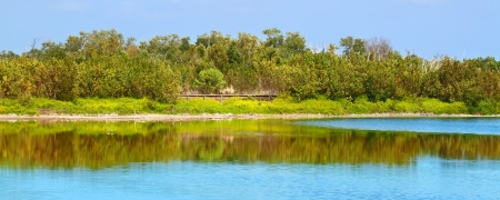 Eco Pond of Everglades National Park in Florida photo