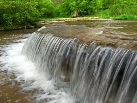 Beautiful cascade on Prairie Creek of the Des Plaines Conservation Area in Illinois Stock Photo - 16697356