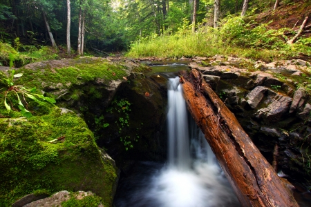 hydrology: Waterfall on the Union River in Porcupine Mountains Wilderness State Park