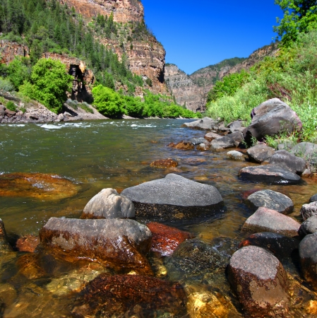 hydrology: Colorado River in Glenwood Canyon