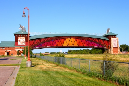 Kearney, USA: May 29, 2012: Great Platte River Road Archway is a museum spanning Interstate 80 in Kearney, Nebraska.