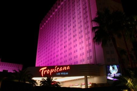 tropicana: Las Vegas, USA - October 29, 2011: The Tropicana Las Vegas Hotel and Casino is located on the famous Las Vegas Strip in Nevada.  It is one of the oldest hotels on the Strip, being opened in 1957.