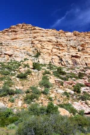 rugged terrain: Red Rock Canyon National Conservation Area is located just west of Las Vegas in Nevada