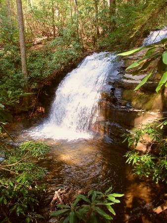 appalachian trail: Long Creek Falls along the Appalachian Trail in Georgia
