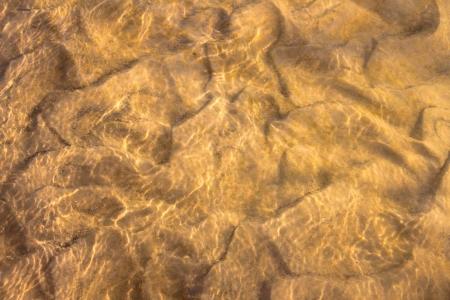 suelo arenoso: Fondo de arena del río del azúcar en el norte de Illinois Foto de archivo