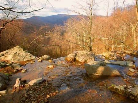 Shenandoah National Park in Virginia seen from Dark Hollow Falls photo