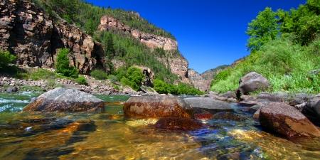 colorado mountains: Colorado River in Glenwood Canyon