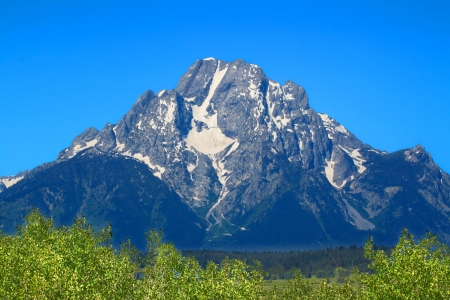 Mount Moran and the Snake River in Grant Teton National Park of Wyoming photo