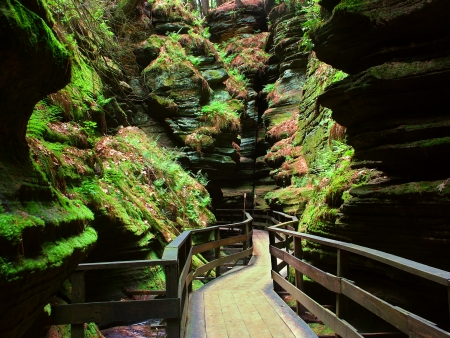 Witches Gulch in Wisconsin Dells Stock Photo