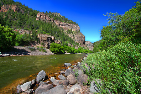 western united states: Colorado River flows through the White River National Forest in the western United States