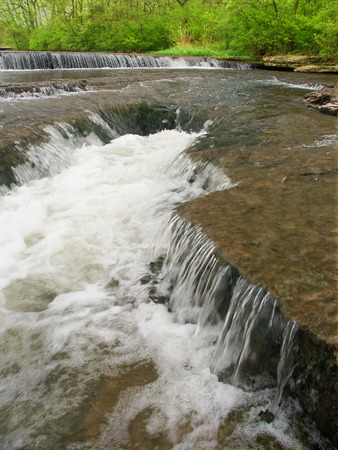 hydrology: Beautiful cascade on Prairie Creek of the Des Plaines Conservation Area in Illinois