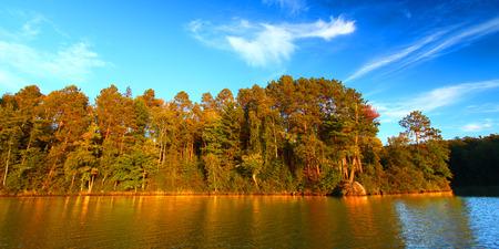 Sweeney Lake in the northwoods of Wisconsin Stock Photo