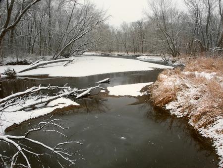 Kishwaukee River Winter Landscape Illinois photo