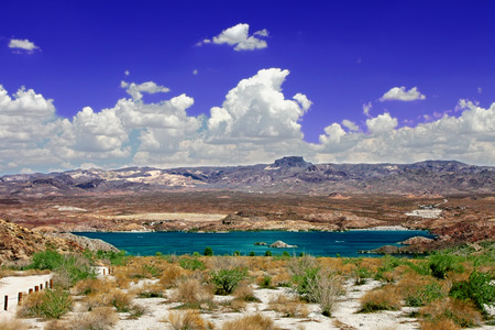mohave: Lake Mohave is a reservoir on the Colorado River in the desert of the southwestern United States