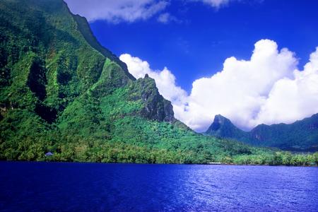 french polynesia: Moorea Island French Polynesia Stock Photo
