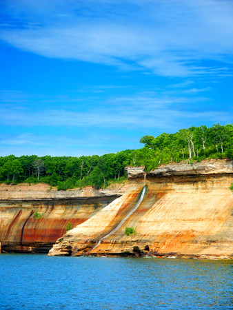 pictured: Bridalveil Falls at Pictured Rocks National Lakeshore Michigan