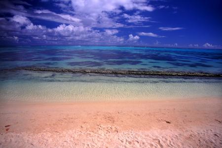 french polynesia: Moorea Beach Lagoon French Polynesia Stock Photo