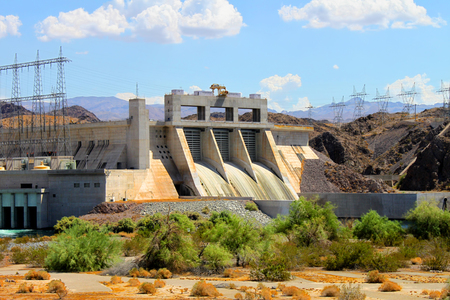 The Davis Dam is located on the Colorado River near Laughlin Nevada