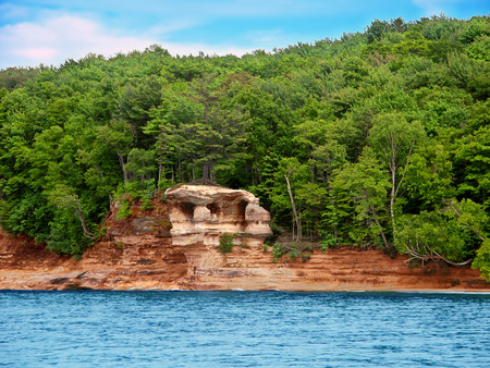 pictured: Chapel Rock along Lake Superior at Pictured Rock National Lakeshore in Michigan
