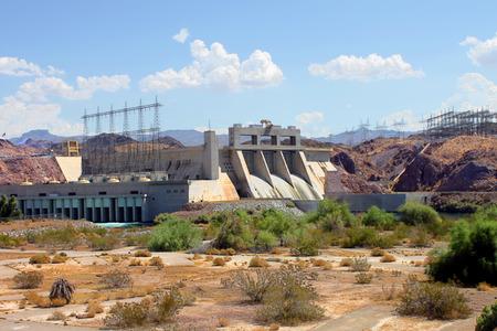 bullhead: The Davis Dam is located on the Colorado River near Laughlin Nevada. Stock Photo
