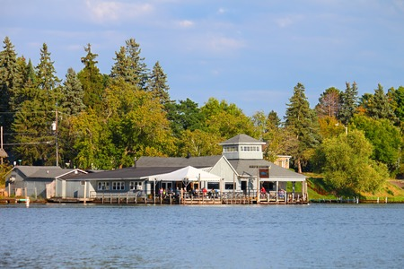 Minocqua, USA - September 05, 2012: The Thirsty Whale is a bar and restaurant in in Minocqua, Wisconsin.  It has been operating under various names for over 100 years. Editorial