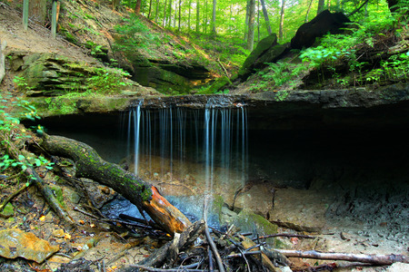 Maidenhair Falls is located in Pearl Canyon at Shades State Park Indiana