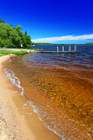hydrology: Lake Gogebic beach at Ontonagon County Park in Michigan